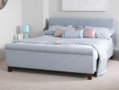Serene Hazel Fabric Sleigh Bed Frame Buy Online At