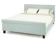 Serene Hazel Fabric Sleigh Ice Colour Bed Frame
