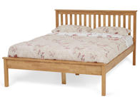 Serene Heather Honey or Opal White Wood Bed Frame