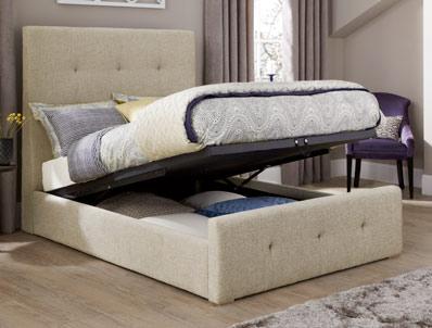 Serene Katherine Fabric ottoman Bed Frame