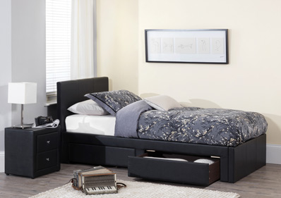 Serene Latino Single 2 Drawer Bed Frame