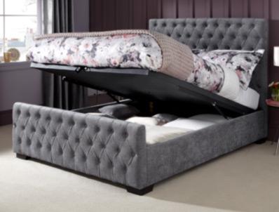 Serene Lillian Fudge or Pearl  Ottoman Bed Frame