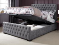 Serene Lillian Steel Colour Ottoman Bed Frame
