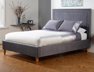 Serene Louise Fabric Bed Frame New