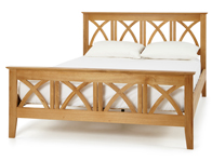 Serene Maiden Solid Oak Bed Frame