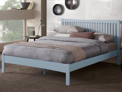Serene Mya Painted Grey Hevea wood Bed Frame