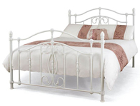 Serene Nice White Metal Bed Frame