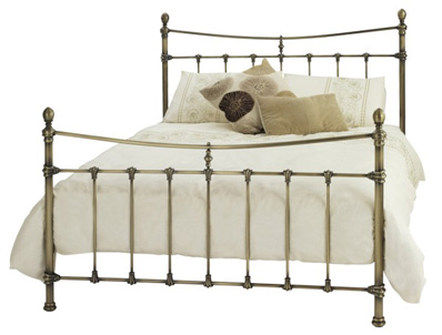 Serene Olivia Antique Brass Finish Bed Frame