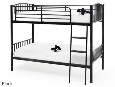 Serene Oslo Black Metal Twin Bunk Bed