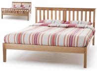 Serene Salisbury Oak Veneer Bed Frame