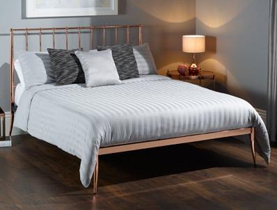 Serene Saturn Black Nickel Metal Bed Frame