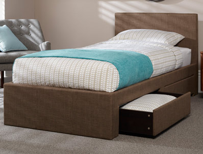 Serene Scarlett Fabric Drawer Bed Frame