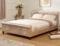 Serene Stella Crushed Silver Velvet Fabric Bed Frame