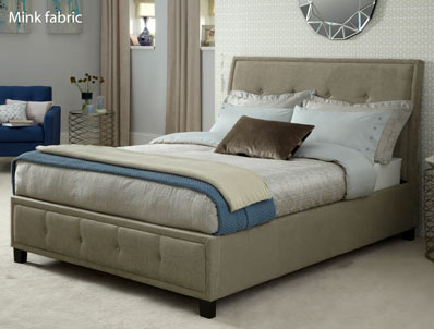Serene Wesley Mink Fabric Bed Frame Only Discontinued