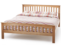 Serene Windsor Oak Veneer Bed Frame
