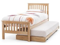 Serene Windsor Oak Veneer Guest Bed Frame