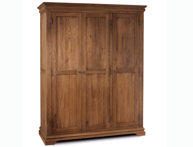 Sleepcraft Chambra Mid Oak 3 Door Wardrobe
