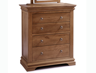 Sleepcraft Chambra Mid Oak 4 Drawer Wide Chest