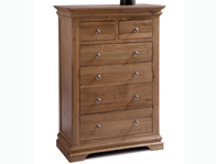 Sleepcraft Chambra Mild Oak 2 Over 4 Drawer Chest