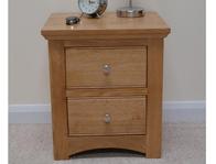 Sleepcraft Knightsbridge Solid Oak 2 Drawer bedside Cabinet