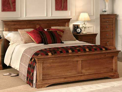 Sleepcraft Phillipe Dark Oak Bed Frame