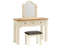 Sleepcraft Wilton Dressing Table with Mirror and Stool Option