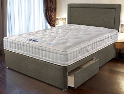 Sleepeezee backcare extreme 1000 pocket divan bed buy for Best value divan beds