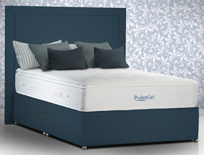 Sleepeezee Immerse 2200 Pillow Top Pocket Gel Divan bed