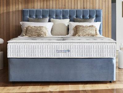 Sleepeezee Poise 3200 Pillow Top Pocket Gel Divan bed
