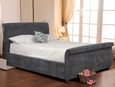 Sweet Dreams Adore Fabric Sleigh Bed Frame