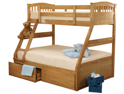 Sweet Dreams Apollo/Epsom 3 Sleeper Bunk Bed & Under Bed Drawers