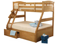 Sweet Dreams Apollo Epsom 3 Sleeper Bunk Bed & Under Bed Drawers