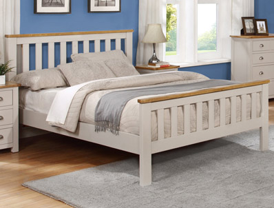 Sweet Dreams Copper Acacia & Painted Bed Frame