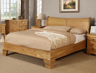 Sweet Dreams Grayson Oak Sleigh Bed