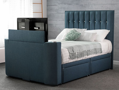 Sweet Dreams Haydn Faux Leather TV Bed with Storage
