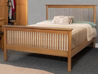 Sweet Dreams Jacob King Size Oak Bed Frame