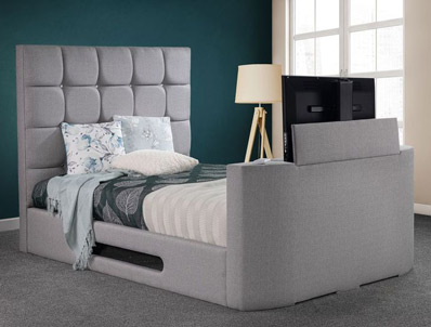 Sweet Dreams Jasmine Upholstered Tv Bed Frame