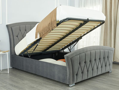 Sweet Dreams Leigh Fabric Ottoman Bed Frame