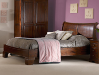 Sweet Dreams Lincoln Mahogany Colour Sleigh Bed