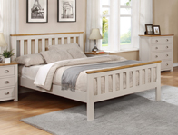 Sweet Dreams Margo Pale Grey Wooden Bed Frame