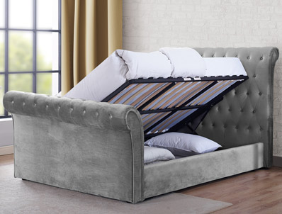 Sweet Dreams Maxine Fabric Ottoman Bed Frame