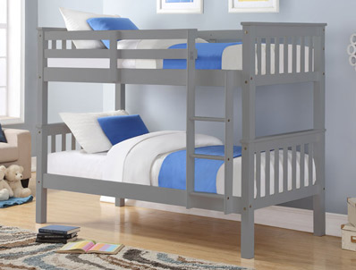 Sweet Dreams Nero White Painted Bunk Bed Frame