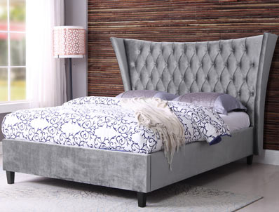 Sweet Dreams Parker/ Kendrick Winged Fabric Bed Frame