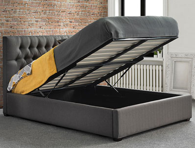 Sweet Dreams Pharoah Fabric Storage Bed Frame