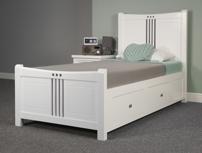 Sweet Dreams Rook White Painted Pine Bed Frame