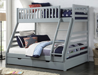 Sweet Dreams States Triple Bunk with Under Bed Drawers