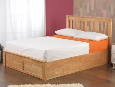 Sweet Dreams Titus King Size White wooden Ottoman Bed Frame  2 Only