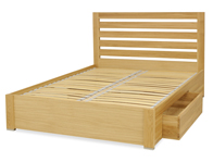 Tch  Merlot Oak 2 Drawer Bed Frame