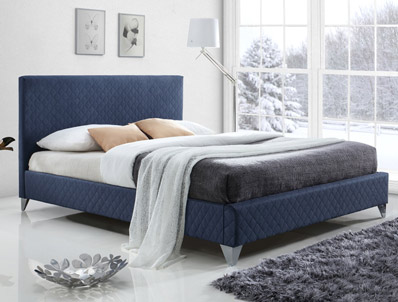 Time Living Brooklyn Quilted Fabric Bed Frame