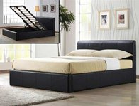 Time Living Frankfurt Faux Leather Ottoman Bed Frame